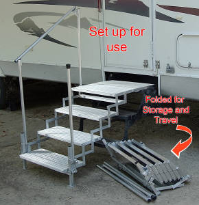 Agressive Non Slip Surface Helps Eliminate Falls And Accidents. RV Steps