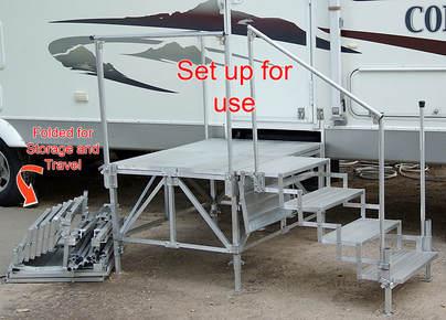 Port a deck rv co rv steps decks for Rv deck plans