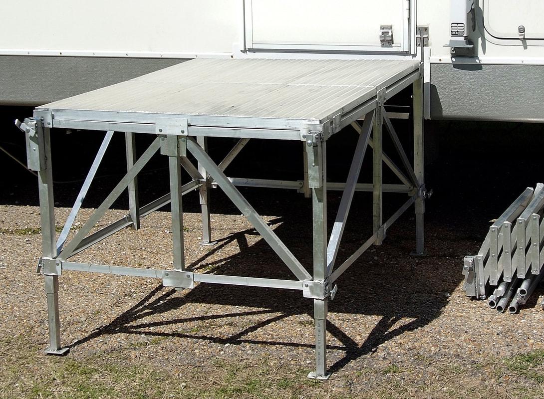 Portable Rv Decks And Platforms : Port a deck rv co steps decks