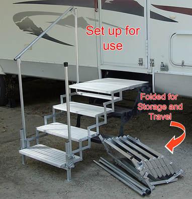 Port A Step Rv Co Rv Steps Amp Decks